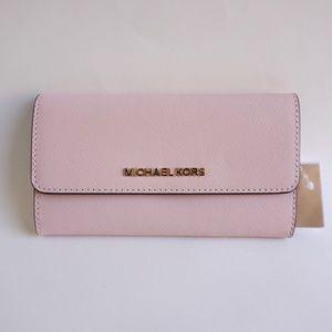 Michael Kors LG Trifold Wallet Pink(Blossom)